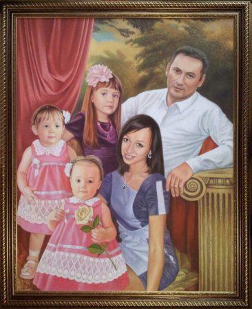 Семейный портрет маслом в Донецке — правильная традиция…