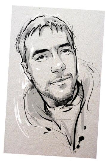 Портрет карандашом любимому мужу в Донецке…