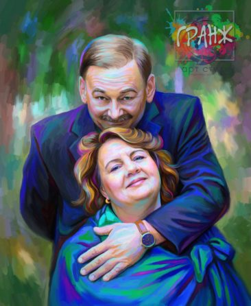 Портрет по фото на холсте Донецк