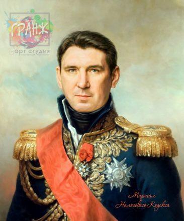 Портрет по фото на холсте в подарок мужчине на 23 февраля Донецк