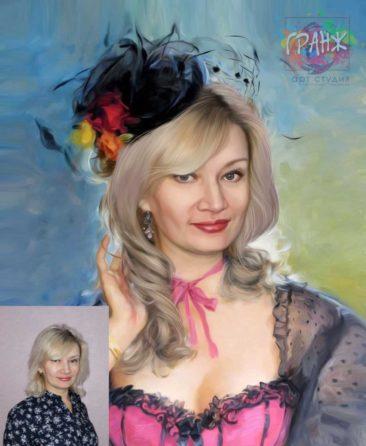 Заказать арт портрет по фото на холсте в Донецке