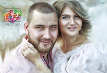 Где заказать портрет по фотографии на холсте в Донецке?