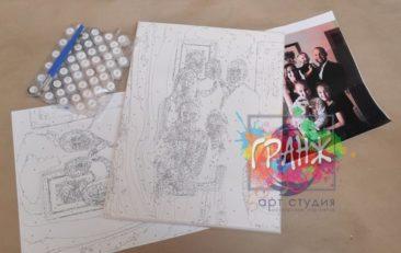 Картина по номерам по фото, портреты на холсте и дереве в Донецке